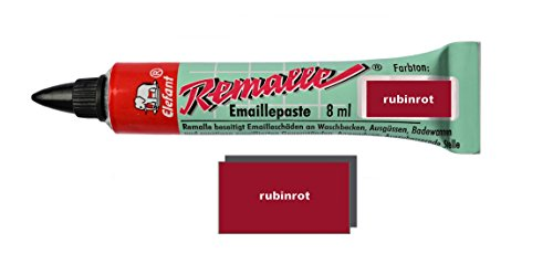 Remalle Emaille Paste Emaillelack Reparaturlack Lack in vielen Farben je 8 ml + Pinsel fuer jede...