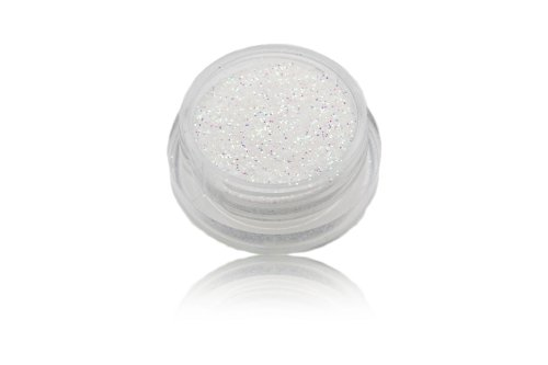 Glitterpuder / Glitzerpuder / Glitterstaub / Glitterpulver / Glitzerpulver - Farbe Weiss irisierend 5 gr.