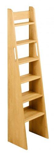 BioKinder 22243 Noah Treppen-Leiter Hochbett aus Massivholz Erle 160 cm