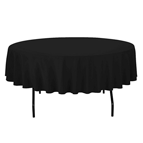 Royal Decor Supply 137,2cm schwarz rund Polyester Tischdecke für Hochzeit Party & Venue Dekoration schwarz Royal Polyester Satin