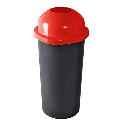 KUEFA 60L Mülleimer/Müllsackständer mit Einwurf (Rot)