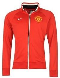Nike Manchester United Trainer Jacket Mens Diablo Red Large