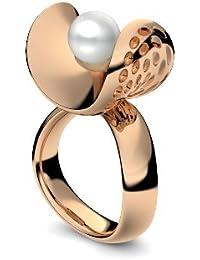 Golfschmuck Golf Schmuck Rosegold Ring Akoya Perle weiß 585 + inkl. Luxusetui + Akoya Perle weiß Ring Rosegold Perlenring Rosegold (Rosegold 585) - Pearl Symbiosis AM253 RS585PWPE