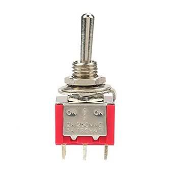 durevole On-Off-On Momentary Toggle Switch Spdt 3 pin 12Mm 15A 250Vac per automobile Interruttore a levetta elettrodomestico controllo industriale