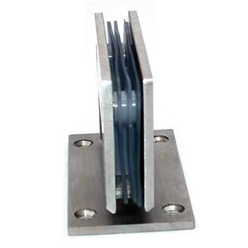 31S 0fei6mL - Juego de 2 bisagras de puerta de vidrio NUZAMAS, soportes, bisagra de la puerta de la ducha Montado en la pared Panel de vidrio de 8-12 mm adecuado, 80-100cm Puerta, 90 grados de cierre y apertura