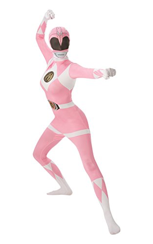 Mighty Morphin Power Rangers Pink Ranger - Adult 2nd Skin Costume Lady : MEDIUM