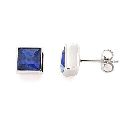 Leonardo Jewels Damen Ohrringe Siena Edelstahl Glas blau 016385