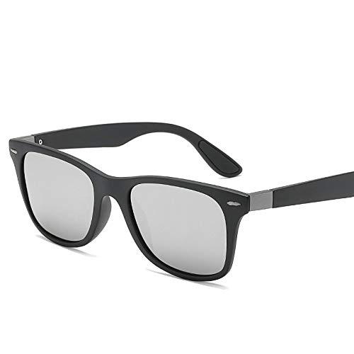 Yangjing-hl Sonnenbrille Männer und Frauen Reisnagel polarisierte Sonnenbrille polarisierte treibende Sonnenbrille Sand schwarzer Rahmen weißer Quecksilberrahmen