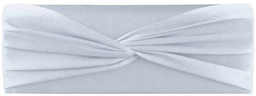 Shirley Clutch/ Abendtasche, 25x8,5x5 cm (B x H x T) Silber mit Tragekette