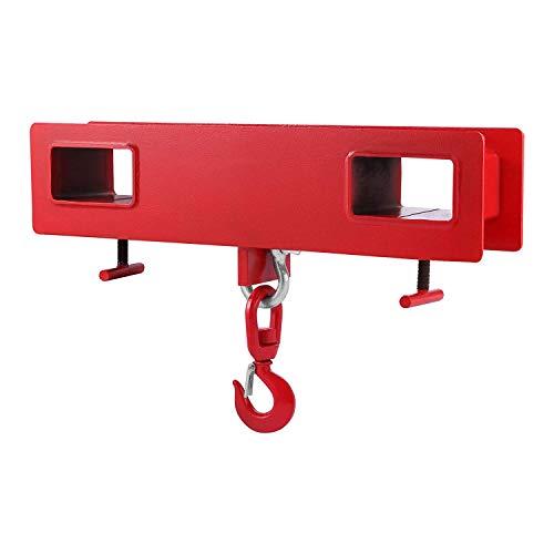 Morffa 2T Haken Gabelstapler Haken Doppelte Gabel Design Hoist Anhebt (2T) (2T)