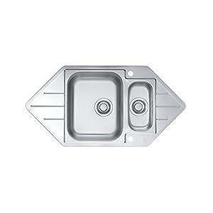 alveus fregadero de acero inoxidable 18/10, tamaño: 98,5x 50cm, esquina de fregadero, Type: Line 40, 1pieza