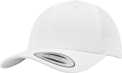Flexfit Damen und Herren Baseball Caps Curved Classic Snapback Cap, Farbe Weiß