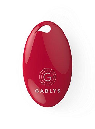 Preisvergleich Produktbild gablys Lost & Found Premium–Schlüsselanhänger Diebstahlsicherung, Verlust, mit Bewegungsmelder, Thermometer und Fernbedienung–Rot