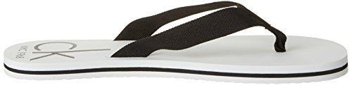 Calvin Klein Underwear Ff Sandal Webbing, Salomés Homme Blanc (White 100)