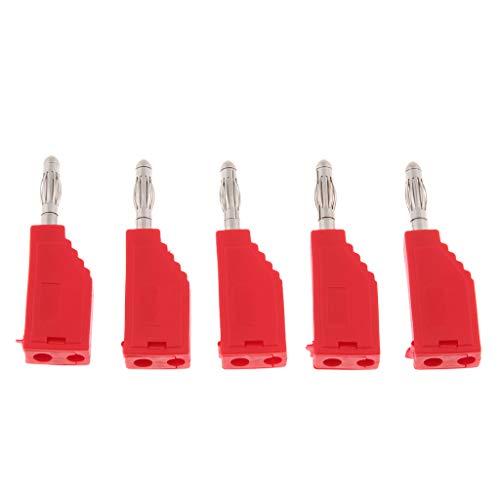 Almencla 5 STÜCKE 4mm Bananenstecker Binding Post Für Multimeter Sonden Schweißkabel - rot (Wireless-lautsprecher Nakamichi)