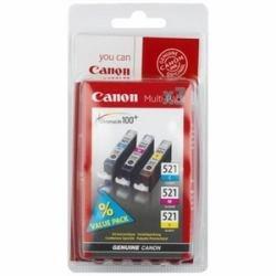 Canon CLI-521 Multipack - 3er-Pack - 9 ml - Gelb, Cyan, Magenta - Original - Tintenbehälter
