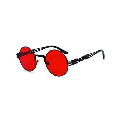 TYJYTM Unisex Gothic Steampunk Sonnenbrille Runde Herren Herren Sonnenbrille Für Damen Runde Bronze Rot Mix Modelle