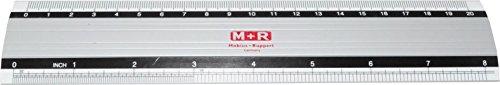 M + R 18200000Regla, aluminio, cm y Inch Escala, 20cm