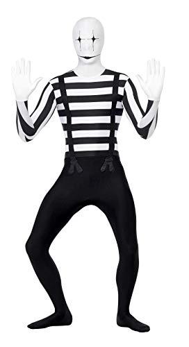 Smiffys, Herren Second Skin Pantomime Kostüm, Ganzkörperanzug mit -