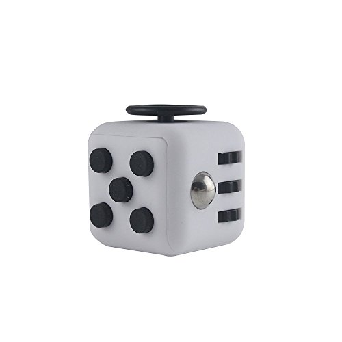 Kayos Anti Stress Fidget Cube, Reduces Stress and Anxiety for Children and Adults, Ideal for ADHD, ADD, OCD and Autism (Grey-Black)