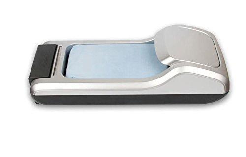 Macchina per la copertura della scarpa dispenser copriscarpe macchina del piede monouso 60 26 14cm (2 rotoli -1200 stampi per scarpe),gray