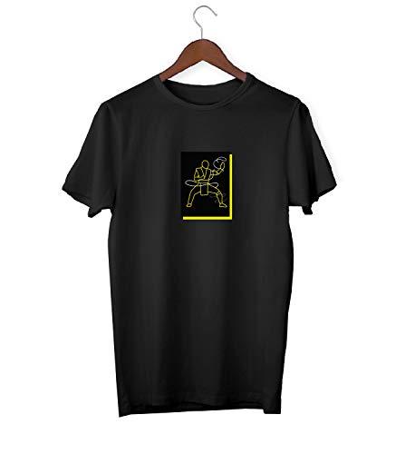arrior Fight_KK017524 Shirt T-Shirt für Männer Herren Tshirt for Men Gift for Him Present Birthday Christmas - Men's - Large - White ()