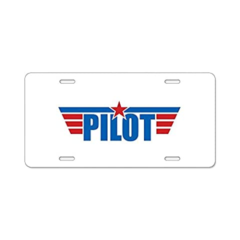 cafepress Aviation Pilot ailes en aluminium Plaque Immatriculation – Standard Multicolore