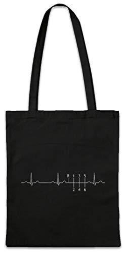 Urban Backwoods Heartbeat Gear Shift Hipster Bag Beutel Stofftasche Einkaufstasche Drifter Shift