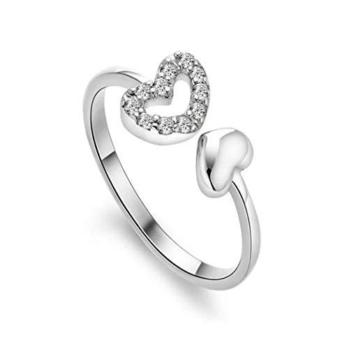 QIANDI Midi Chevron V Form Ring Geometrische Minimalismus Jewelry Silber Triangle Knuckle Ringe für Frauen Geschenk (Silber Chevron Midi-ring)