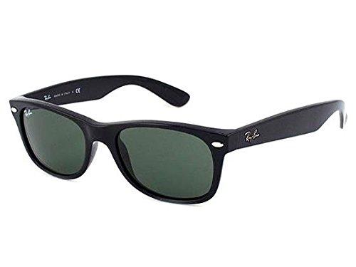 Damen und Herren Sonnenbrille RB 2132 New Wayfarer Größe 55 Schwarz