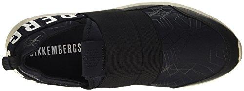 Bikkembergs Speed 583 Low Shoe M Lycra/Leather, Pompes à plateforme plate homme Noir - noir