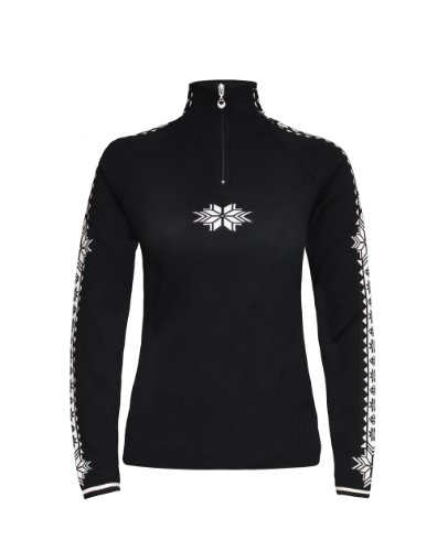 Dale of Norway Damen Pullover Geilo Feminine, Black/Off White, M, 82311-F (Of Norway Dale Pullover)