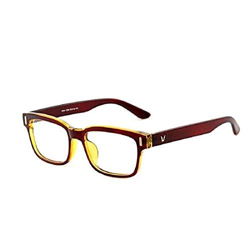 GPZFLGYN Anti-Blau Computer Gläser Anti-Fatigue Anti Blue Light Classic Vförmige Box Brillen Rahmen Marke Für MännerFrauen Computer Rahmen Brillen Vintage