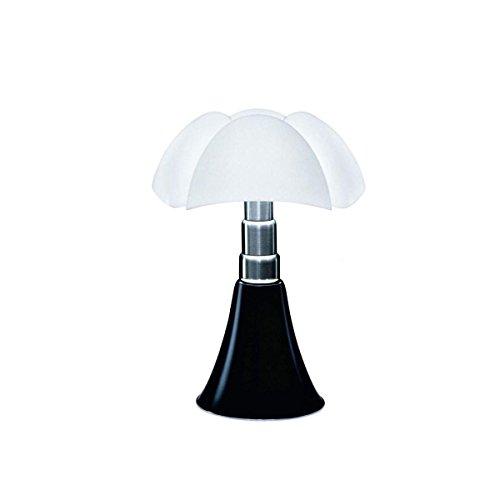 Martinelli luce PIPISTRELLO Lampe avec LED fourni Acier/Méthacrylate Opale 28 W Aluminium Satiné 55 x 66 x 86 cm