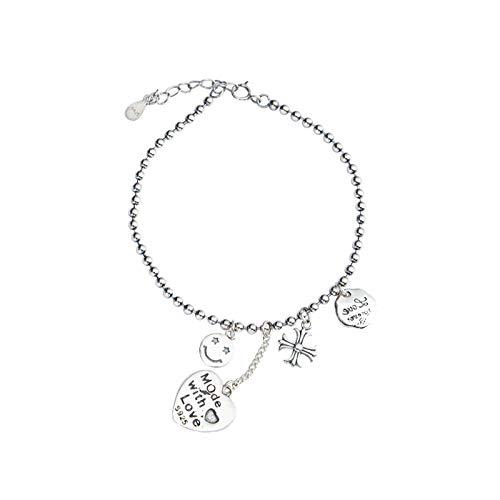 ZhongYi Retro-Machen alte Sterling Silber Liebe Lächeln Brief Armband - Armband Lächeln