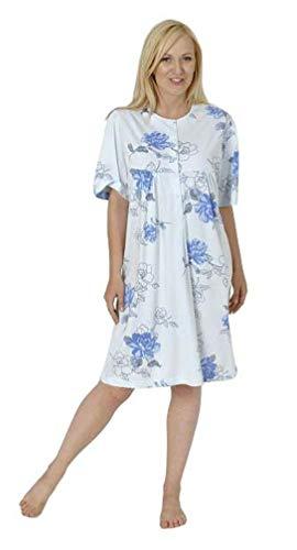 Normann Care Damen Pflegenachthemd Kurzarm, Rückenteil offen 999 275 90 001, Farbe:Mix, Größe2:44/46