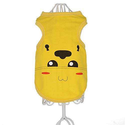 PZSSXDZW Pet Kleidung Frühling und Sommer Neue Cartoonweste Hundebekleidung Pet Kleidung Heimtierbedarf Yellow Large