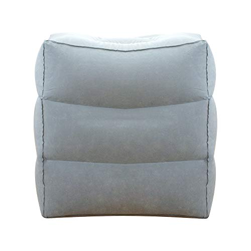 Fußstütze Kissen für Flugreisen , GINKAGO® Tragbare Aufblasbare Reisekissenfür Kinder Schlafen auf dem Auto / Flug (Grau)