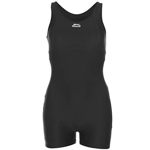 Slazenger Boyleg-Badeanzug für Damen , Größen S, M, L, XL, 2XL, 3XL, 4XL, 5XL, 6XL M Schwarz