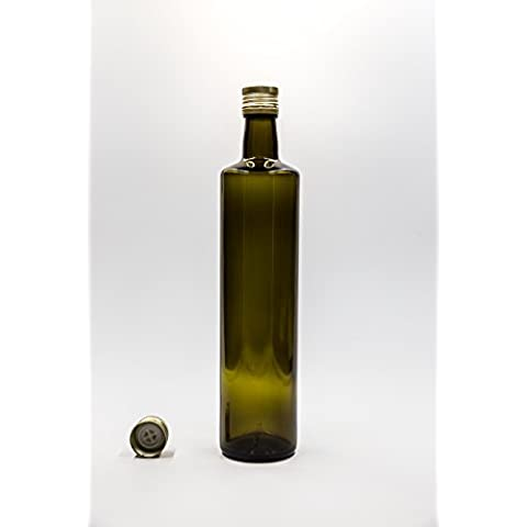 nr 1 pezzo art. Bottiglia Dorica 750 ml vetro verde tappo (Verde 750ml Bottiglia)