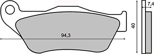 Pastiglie Freno Organische Anteriore YAMAHA Yp X-Max 250 2005-2009