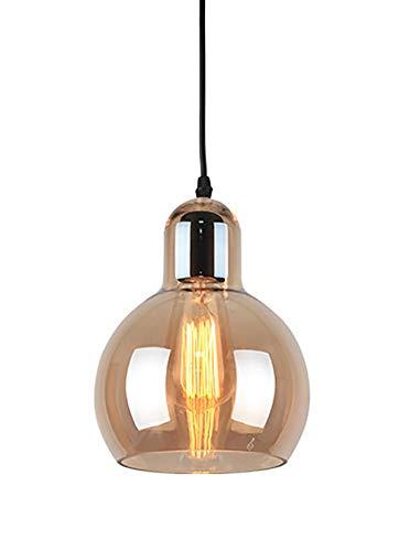 Ein-Licht Indoor Mini Anhänger Retro Kürbis Glas Kronleuchter, Industrial Edison Vintage Style Leuchten W18CM-H23CM -