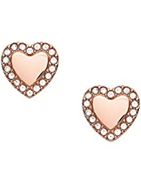Fossil Pendientes de mujer corazón Be Mine Rosé JF03364791