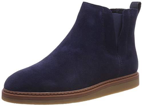 Clarks Damen Dove Madeline Chelsea Boots, Blau (Navy Suede), 38 EU (Für Schuhe Blaue Frauen Clark)