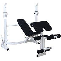 Grupo Contact Banco press con soporte biceps, cuadriceps y femoral (muy resistente)