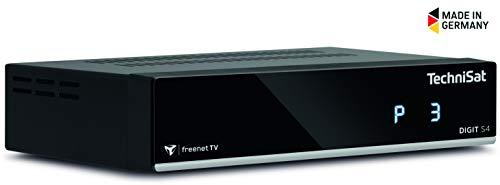 TechniSat DIGIT S4 freenet TV HD Sat-Receiver mit Single-Tuner für Empfang in HD, HDMI, empfangsbereit für freenet TV über Satellit, schwarz