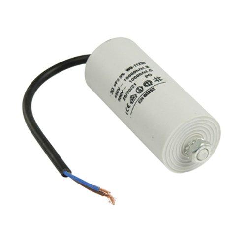 Kondensator Motorkondensator Anlaufkondensator Betriebskondensator Arbeitskondensator 450V mit Kabel 30 µF ±5% / 30 uF / 450 V + Kabel W9 Ø 42x100 mm Anlaufkondensator Betriebskondensator Motor