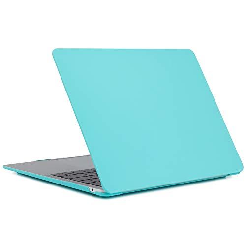 L2W Hülle Für Apple MacBook Air Neu 13,3 Zoll 2018 Modell A1932 Mit Touch ID Laptop Computer Zubehör Plastik Glatter Matt Schutz Hart Cover Tasche Tiffany Blau