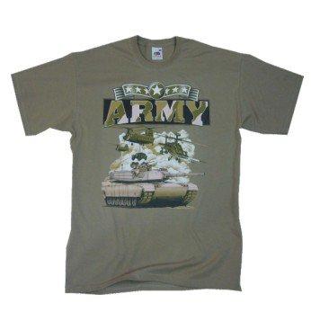 U.S. Army Military 2 T-Shirt in Gr. S-XXL sand XXL (Sand-military T-shirt)