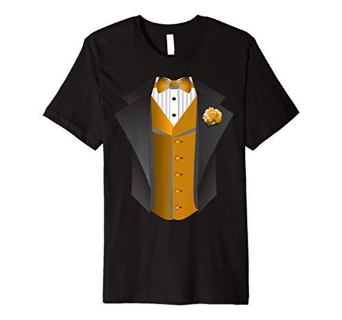 Tuxedo Tee Shirt - Gold Vest